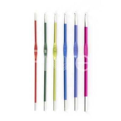 Háčik kovový farebný KnitPro Zinc