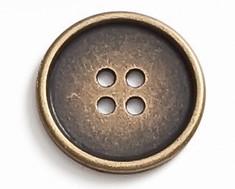 Gombík kovový zlatý